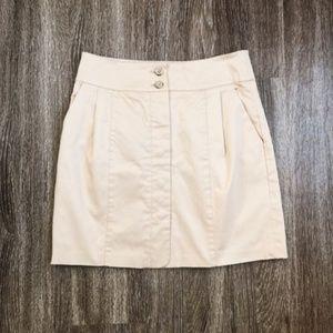 Club Monaco Pencil Skirt w/Pockets Tan Sz 0